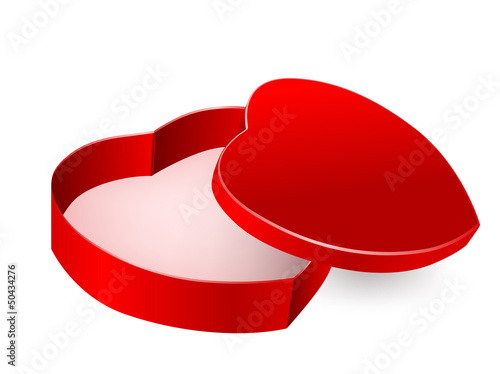 red box in heart form