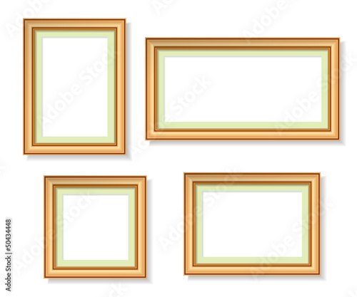 wooden frames on white