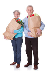 Senior Couple Shopping Vegetables