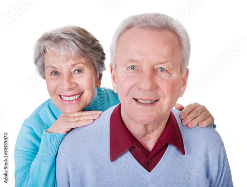 Senior Couple Enjoying Piggyback Ride