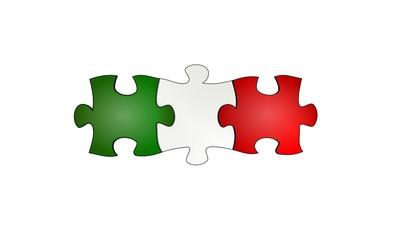 bandiera italiana puzzle