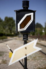 Railway traffic sign