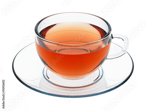 Isolated glass teacup