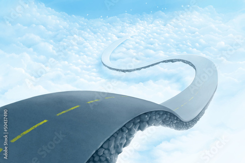 Road over the clouds