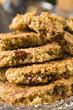 Freshly baked cranberry cookies
