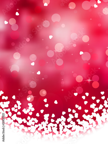 Abstract heart bokeh bright background. EPS 8
