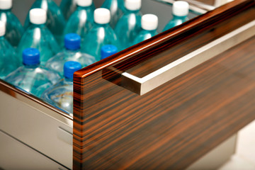 Kitchen drawer for water bottles