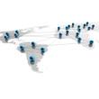 Weltkarte, Netzwerk und Business - 3D Illustration