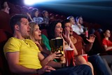 Audience shocked in multiplex movie theater