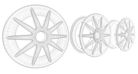 car disks white