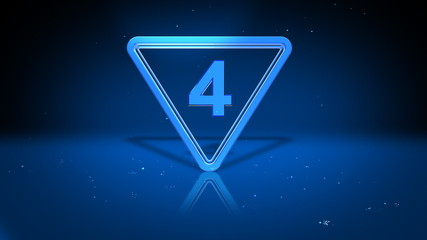 Count Down With Triangle
