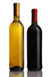 bottles of wine on a white background, red wine, white wine,