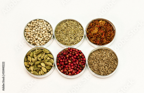 Different types of spices