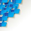 Like papier Blau Weiss Icon Ecke