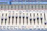 Sound mixer control panel in concert