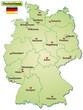 Landkarte von Deutschland mit Bundesländern