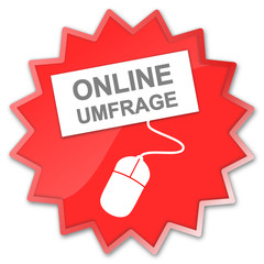 Icon rot Online Umfrage