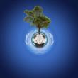 concept planète arbre, protection de la nature