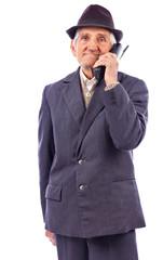 Portrait of a  senior talking on phone
