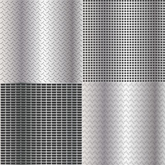 4 different metallic textures