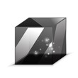 Vector 3d glass cube isolated on white