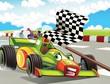 The formula race - super car - illustration for the children