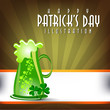 Abstract illustration of st.Patrick Day background.