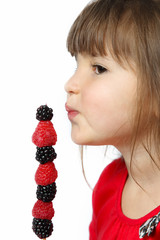Little Girl's Berry Kabob