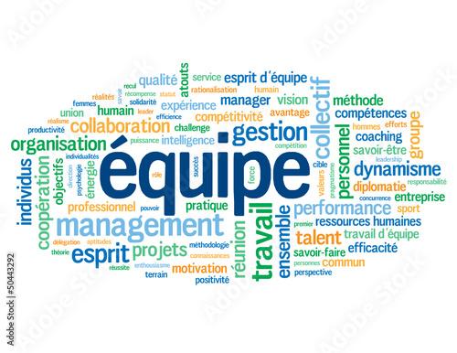 """Nuage de Tags """"EQUIPE"""" (management  travail esprit d'équipe)"""
