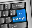 "Keyboard Illustration ""Lose Weight"""