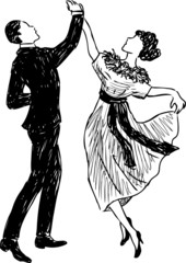 vintage dancing couple