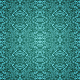 Seamless emerald floral pattern