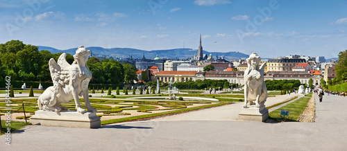 Belvedere Palace of Vienna with Sphinx sculptures
