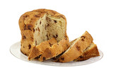 Panettone Bread  Slices on Plate