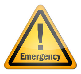 "Hazard Sign ""Emergency"""