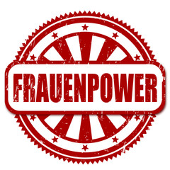 Stempel FRAUENPOWER, vektor