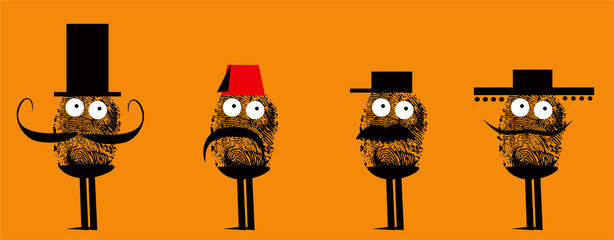 Funny disguise fingerprint characters