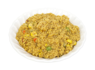 Couscous with vegetables in bowl