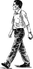 walking man
