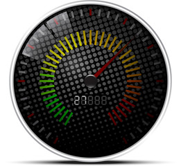 Black Speed Meter