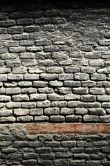 Background, muro de ladrillos ennegrecidos por el humo