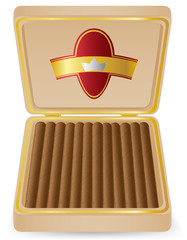 cigars in a box vector illustration