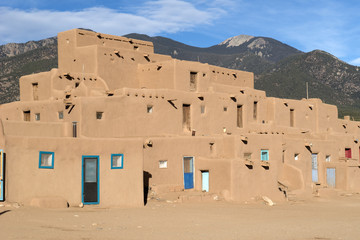 Adobe village, New Mexico
