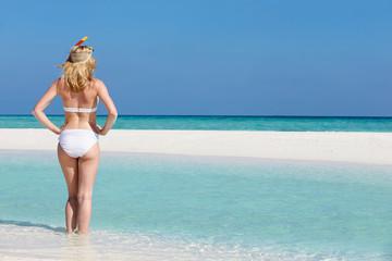 Woman Enjoying Beach Holiday