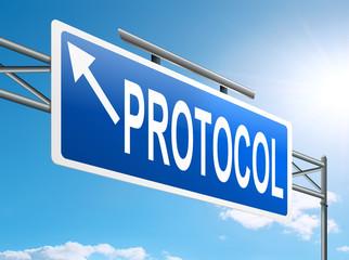 Protocol concept.