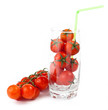 Glass with fresh tomatoes