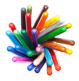 Many colourful felt tip pens