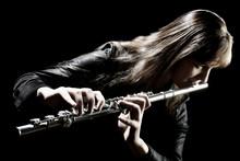Flute music instrument flutist musician playing