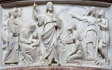 Bergamo - Relief of Jesus by predication - San Alessandro