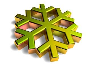 3D Goldzeichen - Frost